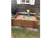 Children's sandpit.