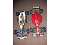 Two model collectable race cars