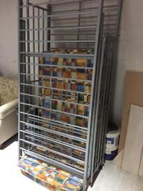 Steel frame bunk bed