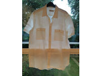 Brand new white linen Nigel Hall shirt (without tags) Size L