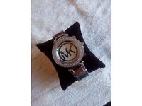Ladies Michael Kors MK Watch In Silver Brand New And Boxed Can Post. . . . .
