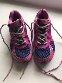 Girls pink Karrimor Run trainers size 3