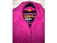 Pink Superdry Jacket Coat Size Small
