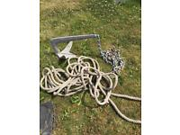 Genuine Bruce Anchor, Chain and Rope