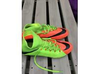 Nike hypervenom /green and orange size 7.5