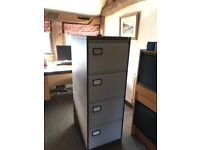 4 Drawer Filing Cabinet with Keys and Files. Excellent Condition
