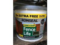 Ronseal. One coat fence life