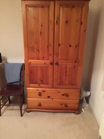 Men's Pine Wardrobe Solid with 2 drawers