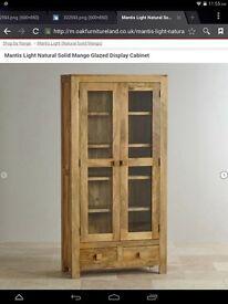 Solid oak wood unit