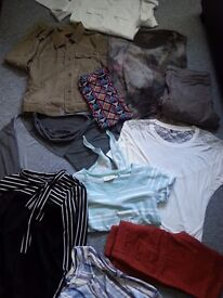 bundle of clothes for women size 8-10