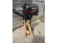 2016 Suzuki DF 6 four stroke outboard (as new). Transom to Propeller boss 22 ins (Long shaft)