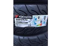 x4 New Yokohama AD08R track tyres