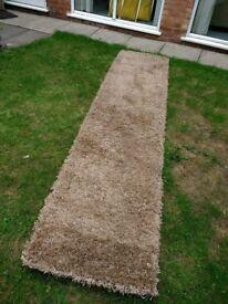 2 x Beige shagpile carpet runners from Next