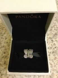 Beautiful genuine Pandora sparkling butterfly charm. Lovely charm. Great condition. £20