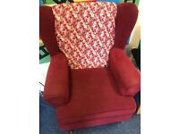 Comfy quirky red arm chairs great condition