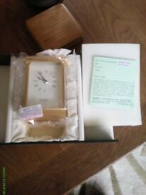 David Peterson Carriage Clock never been out of box