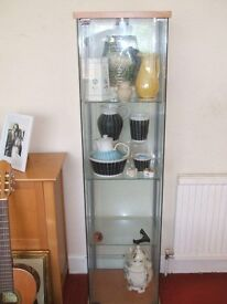 Ikea glass cabinet. Very good condition.