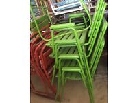 BUNDLE of 25 Vintage Garden Chairs and Benches Seats Metal Framed With Wooden Slats