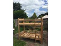 Solid pine bunkbeds with built in ladder