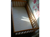 baby cot with mattress from toys r us