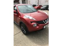 NISSAN JUKE 1.5 TEKNA DCI 5d 110 BHP * RED, LEATHER SEATS, VERY CLEAN CAR,