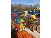 Lin bin for workshop / garage storage
