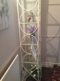 Glass and Metal Shelving Good Condition