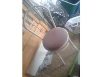 FREE SHABBY CHIC STYLE OLD STYLE SALON SHOP BEDROOM KITCHEN METAL WHITE CHAIR