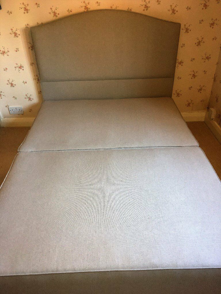 f0251b45e52b Vi-Spring Devonshire Standard Double Divan Base and Iris Headboard (with  optional mattress)