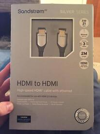 Brand New 2.0 HDMI Cable. Unopened. Suitable for 4K T.V