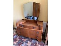 Beautiful Vintage Wardrobe + Dresser Set