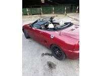 Mgf 1.8 petrol MOT till November very low mileage only 71 thousand.
