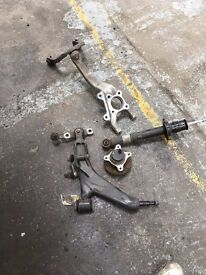LEXUS IS300H 2015 HYBIRD DRIVER SIDE RIGHT FRONT SUSPENSION AND STEERING RUG
