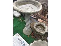 Concrete stone garden ornament bird bath