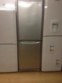 Indesit silver fridge freezer
