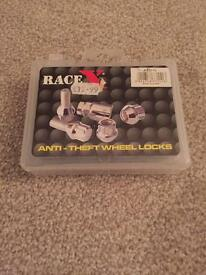 Race x anti theft locking wheel nuts *new*