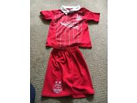 Baby Aberdeen football strip 12-18months