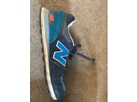 New Balance Navy and Blue Retro Trainer Size 11