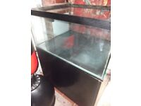 Heavy fish tank and stand 3ft by 2.5ft by 1.5ft 10mm glass plus braced all round top