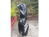 Golf bag and clubs Adidas. Set of irons, putter and woods