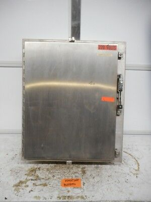 Hoffman Industrial Control Panel Enclosure W-783695 Stainless Steel 30x24x8