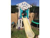 Giant little tikes playhouse / slide / den