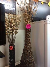 Wicker vase / pot vase decorations