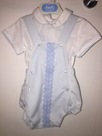 Baby boy Spanish two piece romper set brand new with tags