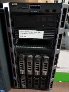 "Dell PowerEdge T420 Tower Server - (2) Xeon QC 2.2GHz (E5-2407) Processors - 96GB RAM - (5) 2TB 3.5"" SAS Hard Drives"