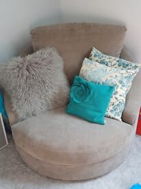 Cuddle swivel chair sofa