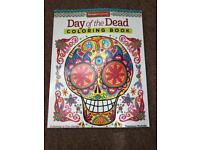 Brand new day of the dead colouring book