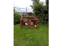 Poultry or rabbit pen and run