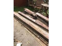 Original Victorian floorboards