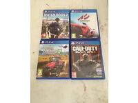 ps4 games and steering wheel and pedals